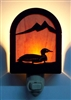 Rustic Decorative Night Light- Loon Design