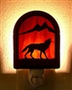 Rustic Decorative Night Light- Wolf Design
