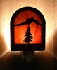 Rustic Decorative Night Light- Tree Design