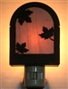 Rustic Decorative Night Light- Maple Leaf Design