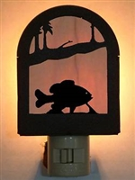 Rustic Decorative Night Light- Pan Fish Design
