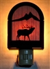 Rustic Decorative Night Light- Elk Design