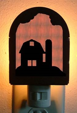 Rustic Decorative Night Light- Barn Design