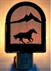 Rustic Decorative Night Light- Galloping Horse Design