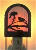 Rustic Decorative Night Light- Chickadee Design