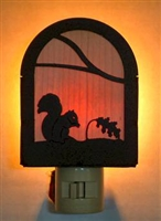 Rustic Decorative Night Light- Squirrel Design