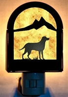 Rustic Decorative Night Light- Lab Retriever Design