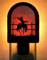 Rustic Decorative Night Light- Bronco Design