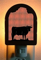 Rustic Decorative Night Light- Bull Design