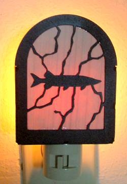 Rustic Decorative Night Light- Muskie Design
