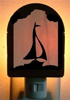 Rustic Decorative Night Light- Sailboat Design