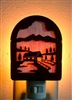 Rustic Decorative Night Light- Covered Bridge Design