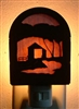 Rustic Decorative Night Light- Covered Bridge Design- Style 2