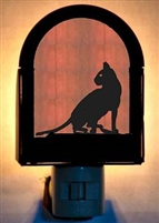 Rustic Decorative Night Light - Cat Design
