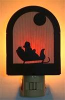 Rustic Decorative Night Light- Santa Design