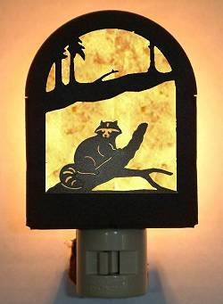 Rustic Decorative Night Light- Raccoon Design