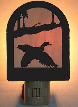 Rustic Decorative Night Light- Flying Duck Design