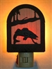 Rustic Decorative Night Light- Walleye Design