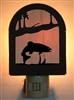 Rustic Decorative Night Light- Trout Design