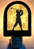 Rustic Decorative Night Light- Golfer Design