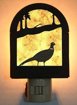 Rustic Decorative Night Light- Pheasant Design