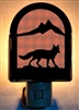 Rustic Decorative Night Light- Fox Design