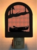 Rustic Decorative Night Light- Canoe Design