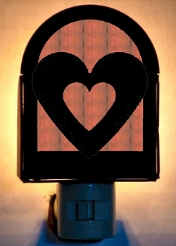Rustic Decorative Night Light- Heart Design