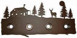 Bath Vanity Light - Deer and Cabin Design