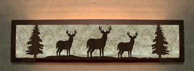 Valance Style Bath Vanity Light - Deer Design