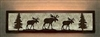 Valance Style Bath Vanity Light - Moose Design