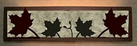 Valance Style Bath Vanity Light - Maple Leaf Design