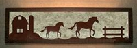 Valance Style Bath Vanity Light - Horse and Barn Design