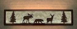 Valance Style Bath Vanity Light - Moose, Bear, Deer Design