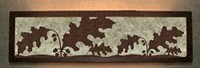 Valance Style Bath Vanity Light - Oak Leaf Design