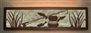 Valance Style Bath Vanity Light - Fly-Rod Fish Design