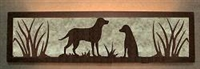 Valance Style Bath Vanity Light - Lab Retriever Design
