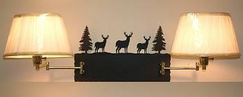 Swing Arm Wall Lamp - Double Arm - Deer Design