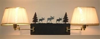 Swing Arm Wall Lamp - Double Arm - Moose Design