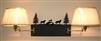 Swing Arm Wall Lamp - Double Arm - Wolf Design