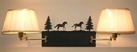 Swing Arm Wall Lamp - Double Arm - Horse Design