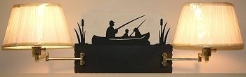 Swing Arm Wall Lamp - Double Arm - Fisherman Design