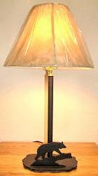 Heavy Steel Rustic Table Lamp - Bear Design- Style 1