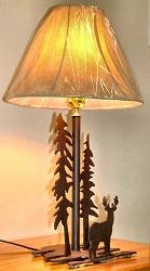 Heavy Steel Rustic Table Lamp- Deer Design