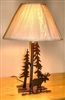 Heavy Steel Rustic Table Lamp- Moose Design