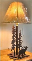 Heavy Steel Rustic Table Lamp- Elk Design