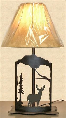 Metal Art Table Lamp- Deer Design