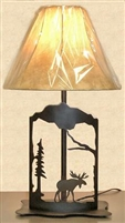 Metal Art Table Lamp- Moose Design
