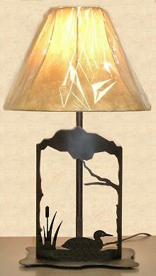 Metal Art Table Lamp- Loon Design