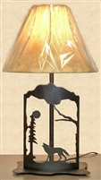 Metal Art Table Lamp- Wolf Design